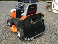 Stihl Ride-On Mower model 5112z, 2 yrs old, with 110cm cutting deck & collector