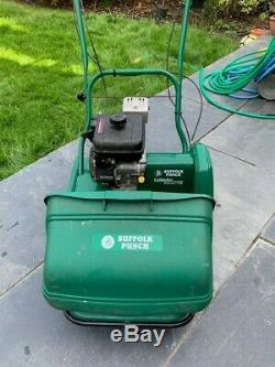 Suffolk Punch 17SK Self-Propelled Petrol Cylinder Lawn Mower (+Scarifier)