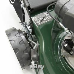 Webb Lawnmower Petrol SELF PROPELLED 16 40cm 7 Cut Heights 50L Plus FREE Oil